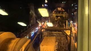 قناة السويس الجديدة: فيديو حصرى لكابينة القيادة بالكراكة الاماراتية المرفأ خلال العمل