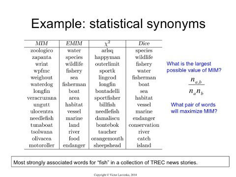 Ir415 Examples Of Statistical Synonyms Youtube