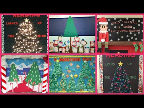 Christmas bulletin board decorations ideas || Christmas ...