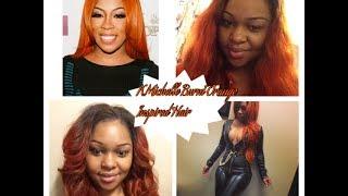 K.Michelle Burnt Orange Inspired Hair Cut & Styled | Tutorial