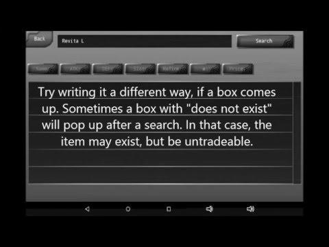 Iruna: Stalls, and item search