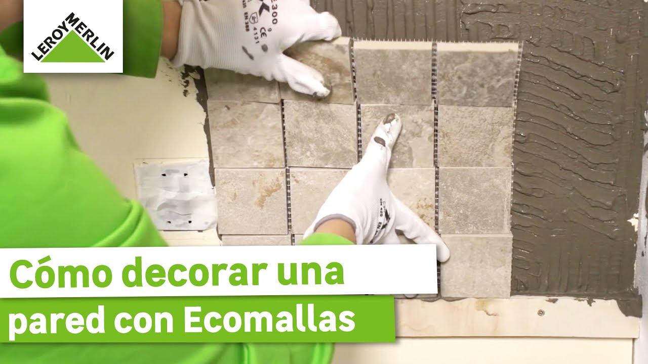 C mo decorar una pared con ecomallas leroy merlin youtube - Leroy merlin piedra pared ...