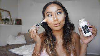 How to bake your face / Highlight and contour Makeup Tutorial Mia Randria