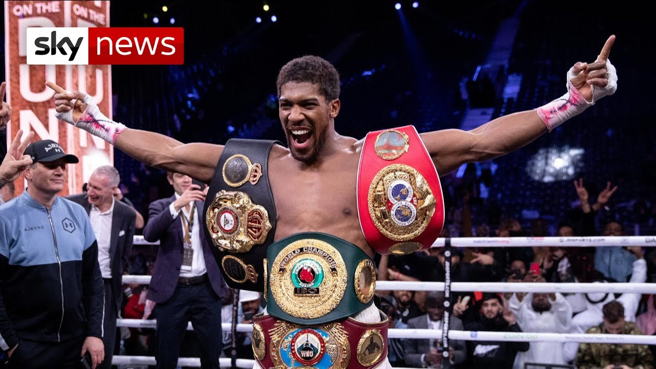 Image result for Anthony Joshua beats Andy Ruiz Jr to reclaim heavyweight world titles