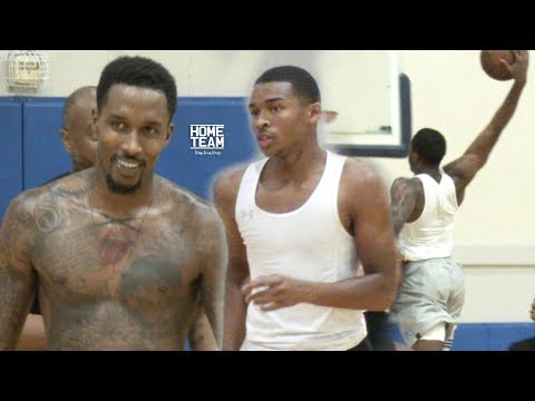 Brandon Jennings, Malcolm Brogdon, Jaylen Hands, Pascal Siakam, Moses Brown at Rico Hines UCLA Run