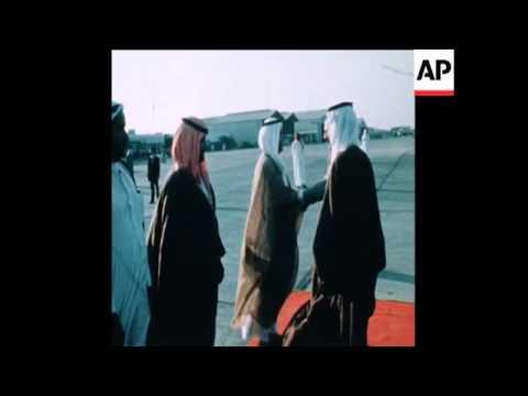 SYND 23 12 77 KING HUSSEIN OF JORDAN VISITS ABU DHABI