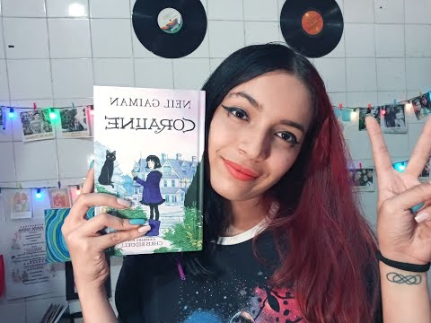 Livro Coraline - Neil Gaiman   Ilustrado por Chris Riddell - Nova Edição com Marcador de Pagina Especial