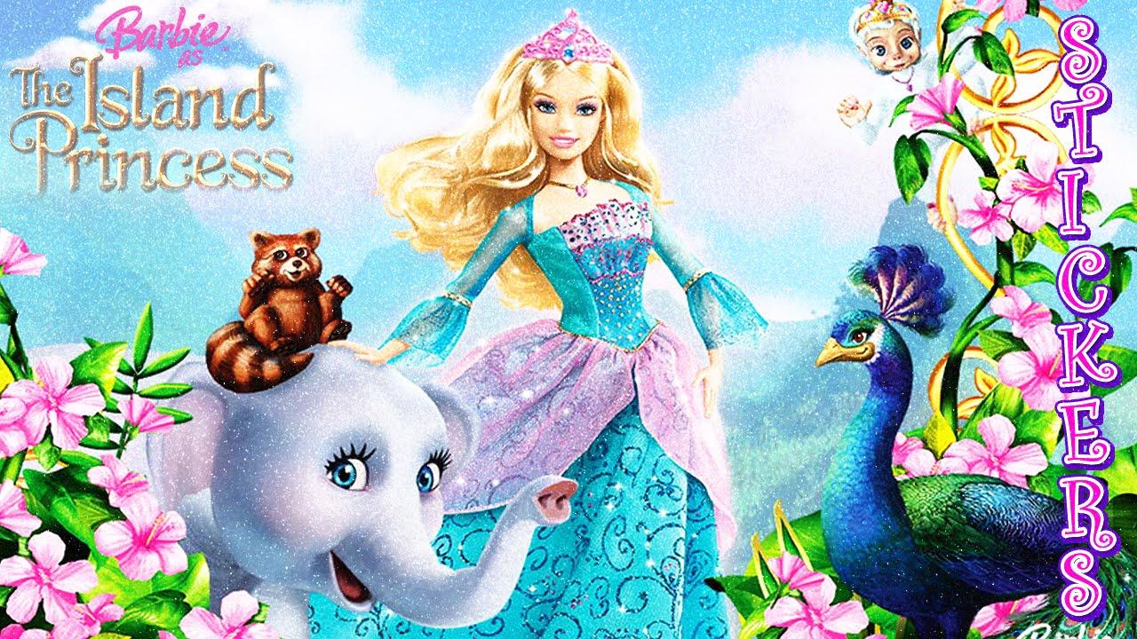 Uncategorized Barbie Animation barbie doll as the island princess action figure stickers youtube