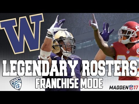 Legendary Washington Huskies Roster | Madden 17 Connected Franchise | Warren Moon + Milloy + Peters