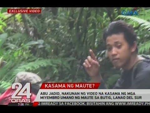 24 Oras: Abu Jadid, nakunan ng video kasama ng mga miyembro ng Maute sa Butig, Lanao