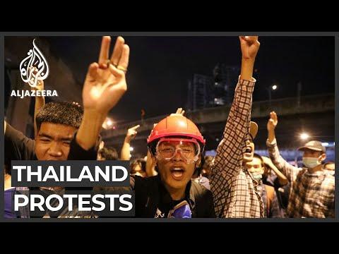 Thai protesters take to Bangkok streets despite warning