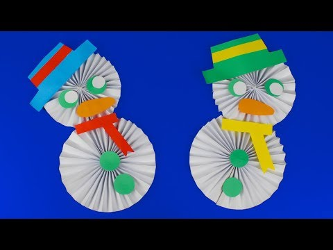 How To Make Paper Snowman   Christmas Craft For Kids   Own Hands DIY