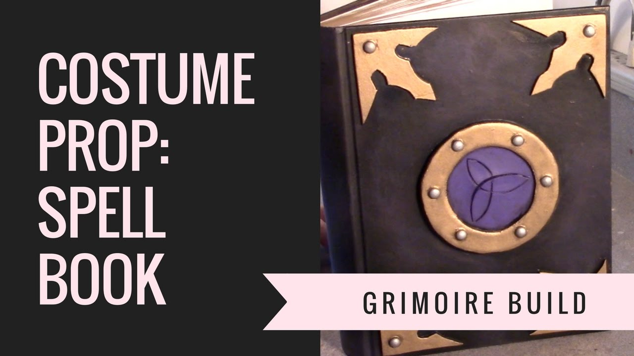 Book Cover Photography Prop ~ Grimoire spell book prop build for costumes and cosplay