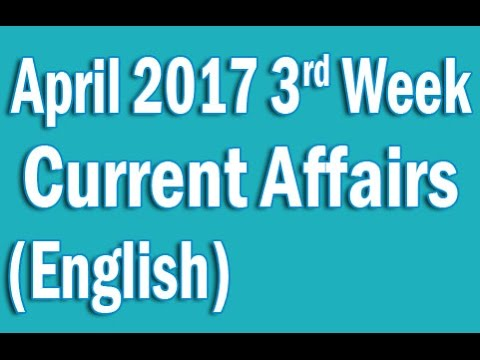 Current Affairs April 2017 3rd Week in English