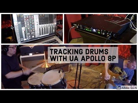 PETE THORN & CURT BISQUERA RECORDING DRUMS w/ UA APOLLO 8P
