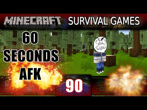 Minecraft - Survival Games - 60 SEC AFK CHALLENGE! (Minecraft PVP)