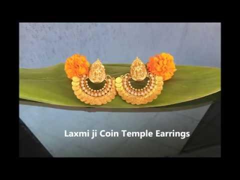 b28be770868fe Jijyra Product - Mata Laxmi ji Temple Earring Jewellery - YouTube