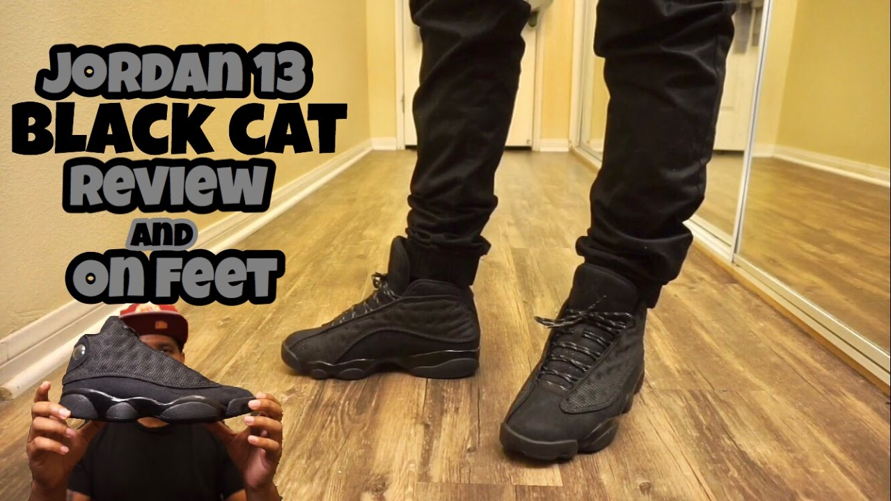 pretty nice d92f1 8be0a Jordan 13 Black Cat Review w  on foot!
