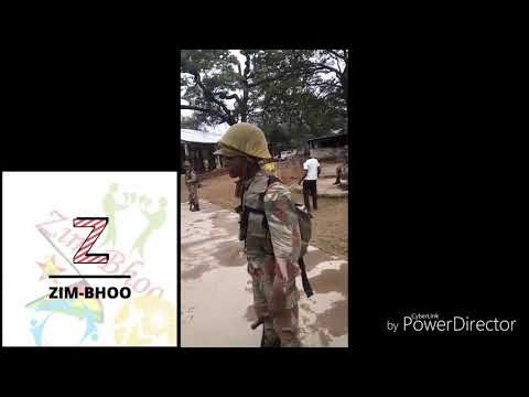 Zim Army Vs Zim Police Singing