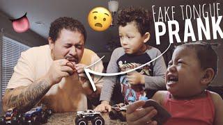Fake Tongue Prank On My Kids!