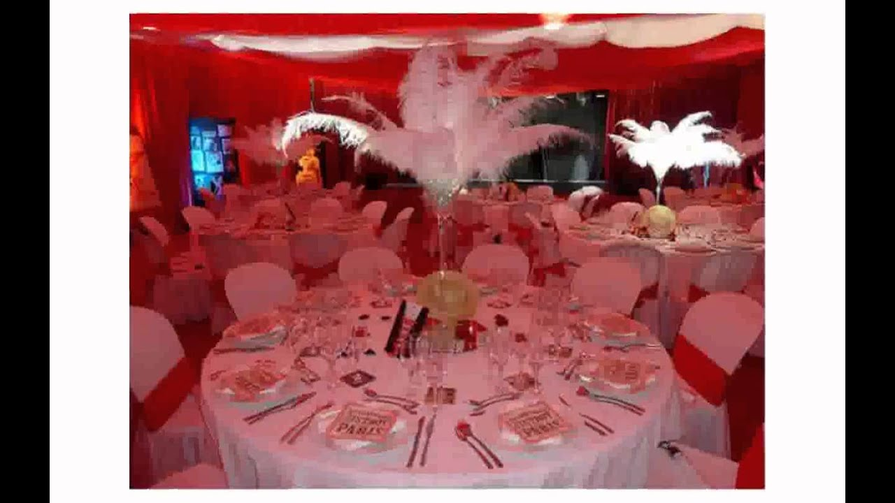Decoration mariage rouge et blanc youtube - Decoration table noir et blanc ...