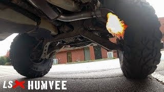 This is how it should sound! New exhaust for the Humvee - LSxHumvee