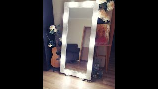 Рама для зеркала с подсветкой, своими руками.Do-it-yourself mirror frame for the mirror.