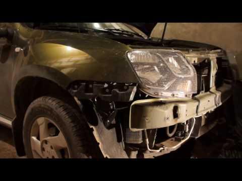 видео: renault duster: замена штатного сигнала на волговский. Снятие и установка переднего бампера