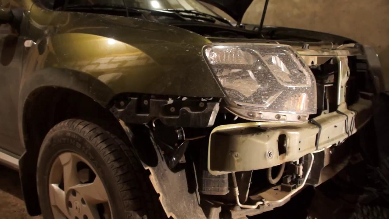 Renault Duster: замена штатного сигнала на волговский. Снятие и установка переднего бампера