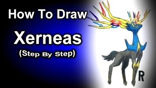 How To Draw Xerneas Step By Step