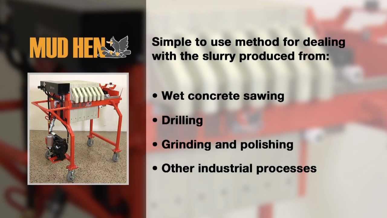 Concrete Wastewater + Slurry Dewatering, Removal | Mudhen
