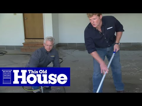 how to epoxy coat a garage floor this old house youtube - How To Epoxy Garage Floor