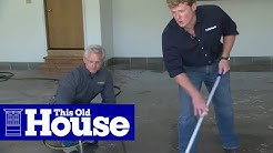 How to Epoxy Coat a Garage Floor - This Old House
