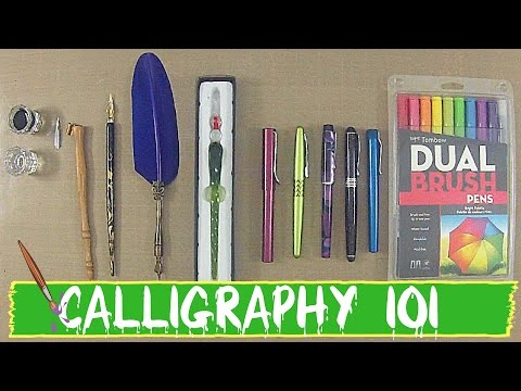 CALLIGRAPHY 101- Different Types of Calligraphy Pens!