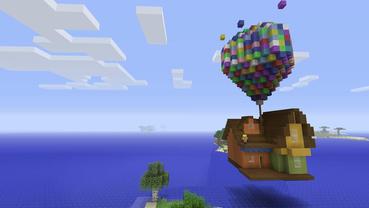 Minecraft Xbox Disneys Up Balloon House ShowCase - YouTube
