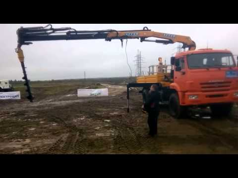 Кран-манипулятор КАМАЗ-43118 с КМУ EFFER 175+ бур и люлька