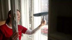 Ikkunanpesu kahdella tavalla