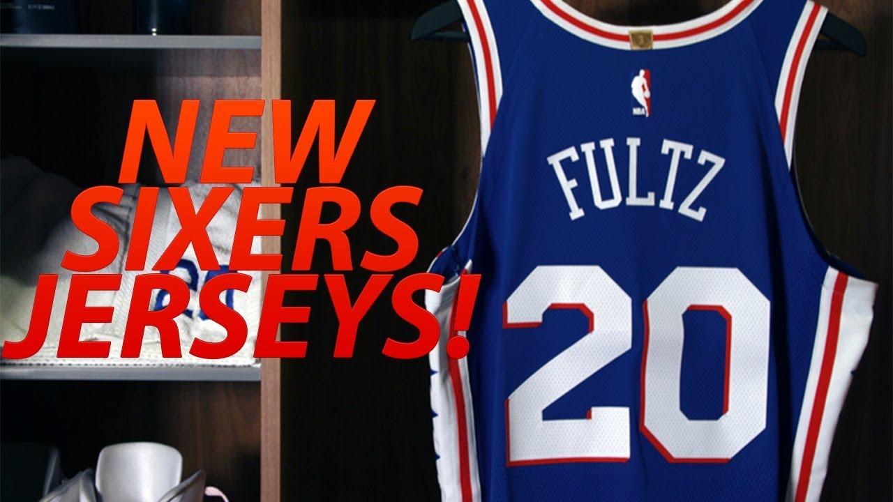 ... PHILADELPHIA 76ERS NEW UNIFORM REVEAL! PHILA SIXERS JERSEYS  Philadelphia 76ers Road Uniform ... f42f39e0f