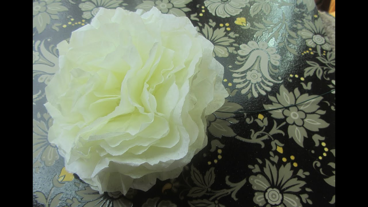 How To Make A Coffee Filter Flower Tutorial Step By