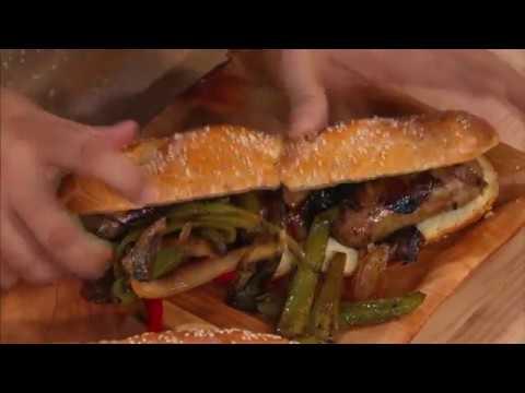 Сэндвичи с сосисками и перцем