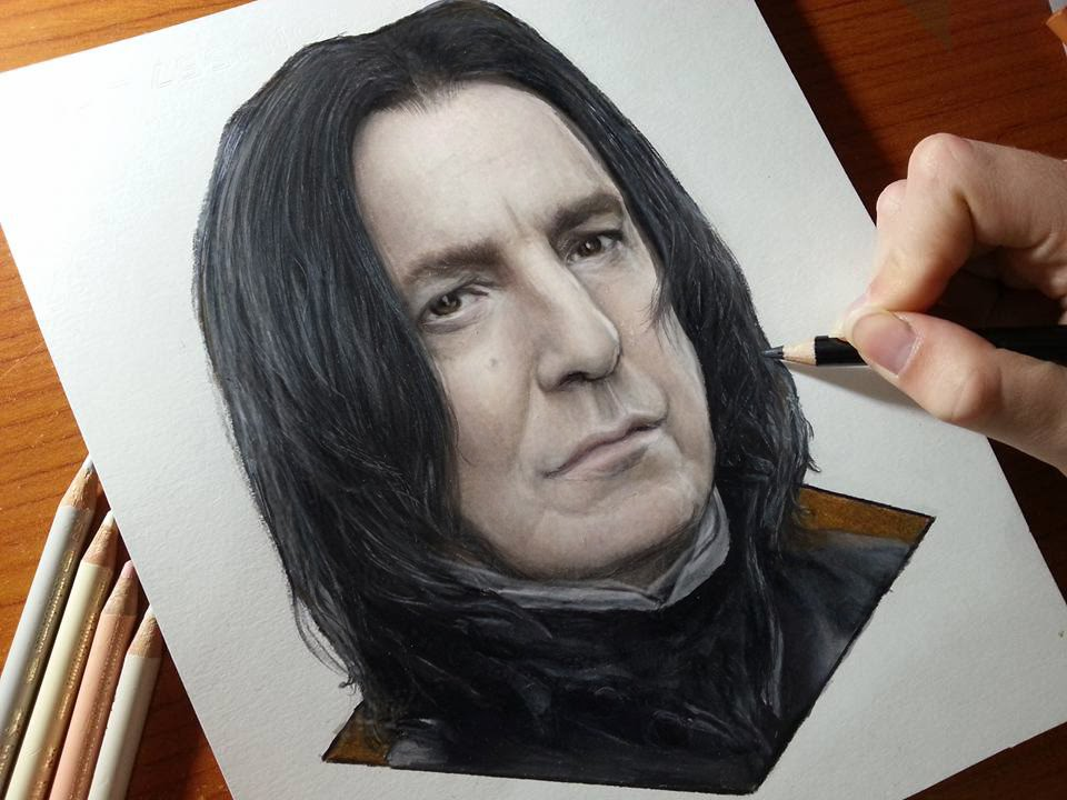 Drawing Alan Rickman  Severussnape