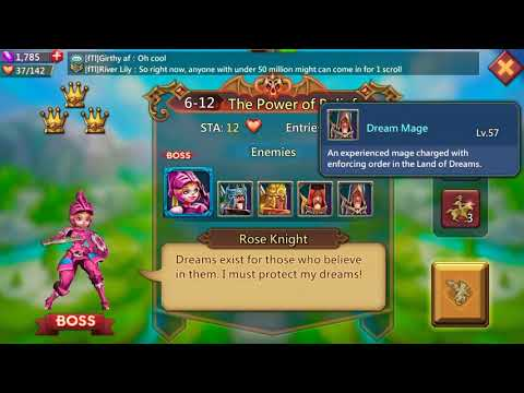 Lords Mobile: Elite 6-12 Easy Unlocking Rose Knight - Green Heroes Only From Lvl 51 To 55