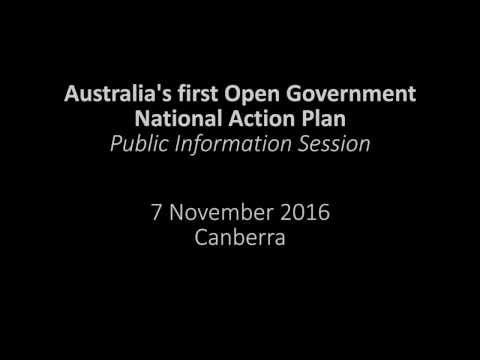 Australian Open Government National Action Plan - Public Information Session