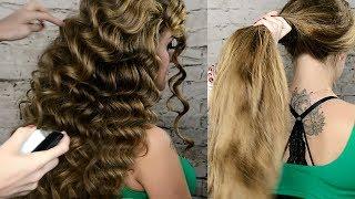 Локоны на длинные волосы урок №2