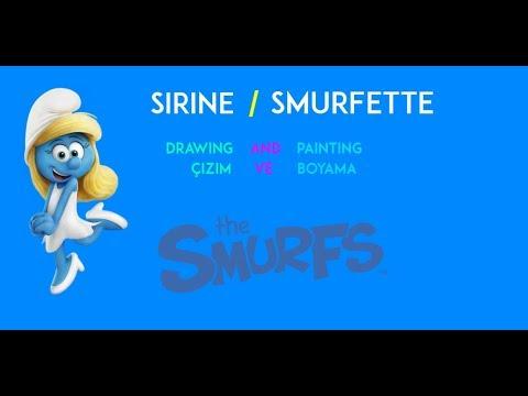 Smurfs şirinler Smurfette şirine Drawing And Painting
