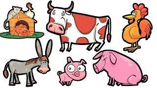 Мультики для детей - Пазл - Изучаем животных - Мультик игра