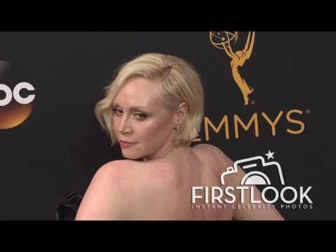 Gwendoline Christie arriving at the 2016 EMMY Awards
