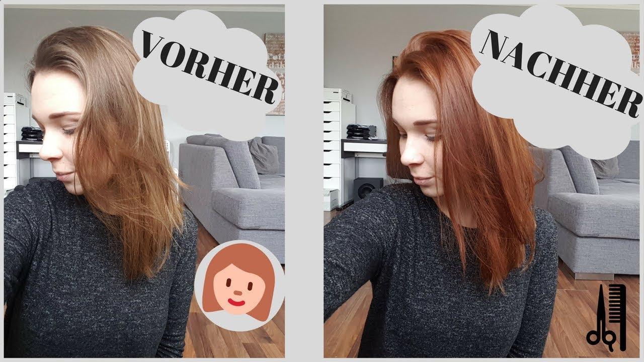 Braune haare kupfer färben