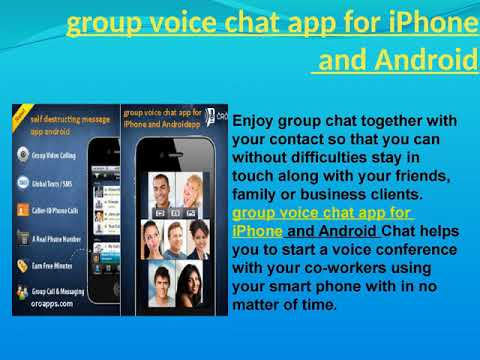 Group Voice Chat App For IPhone And Android