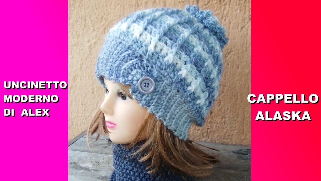 Cappello Uncinetto Alaska Tutorial Ogni Taglia Facile Alex Crochet